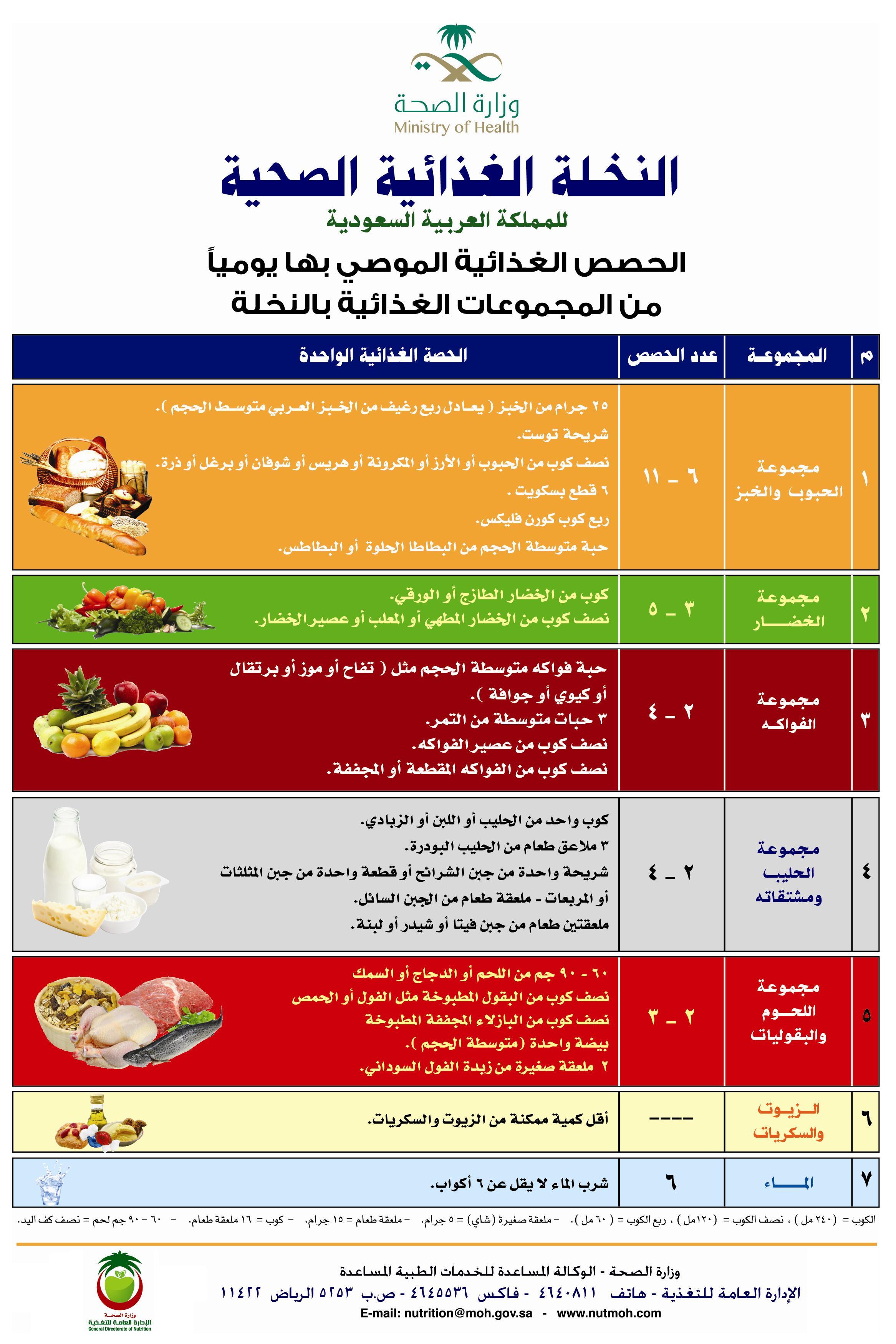 التوعية الصحية الدليل الغذائي الصحي السعودي