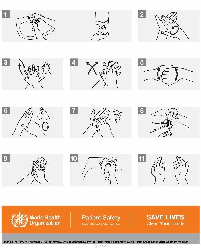 الصحة العامة غسل اليدين